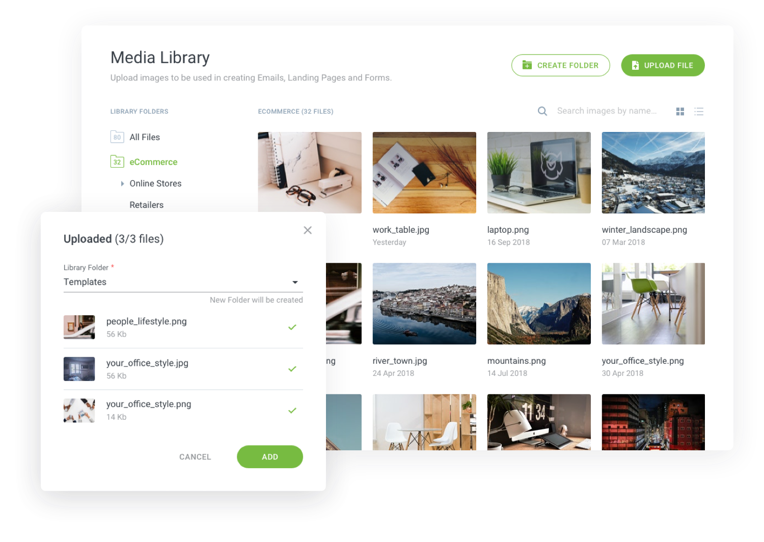 Image: Centralize All Of Your Landing Page Media Files